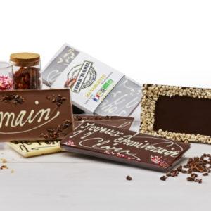 tablettes de chocolat à personnaliser pour soi ou pour offrir