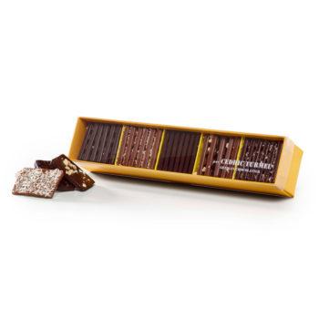 Coffret assortiment Mini-tablettes Gourmandes - Cédric Turmel artisan chocolatier