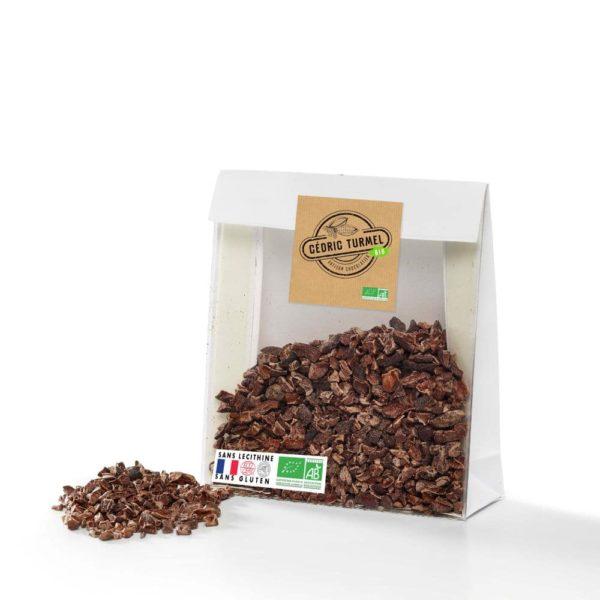 éclats de fève de cacao bio