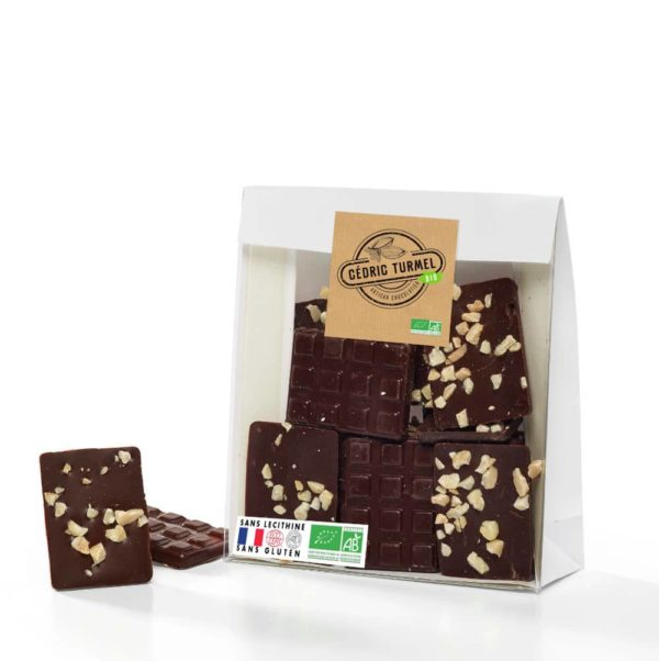 mini tablettes chocolat noir praliné amandes et noisettes bio
