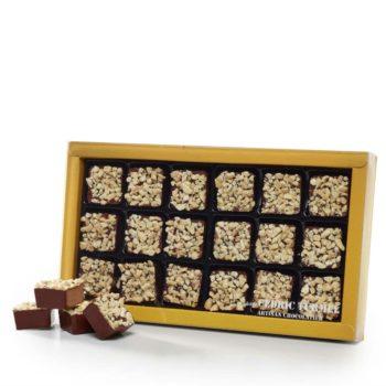 Coffret 18 pièces de rochers chocolat au lait pralinés amandes et noisettes - Cédric Turmel artisan chocolatier