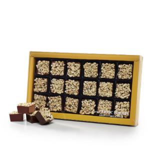 Assortiment de 9 rochers chocolat au lait et de 9 rochers noir - Cédric Turmel artisan chocolatier
