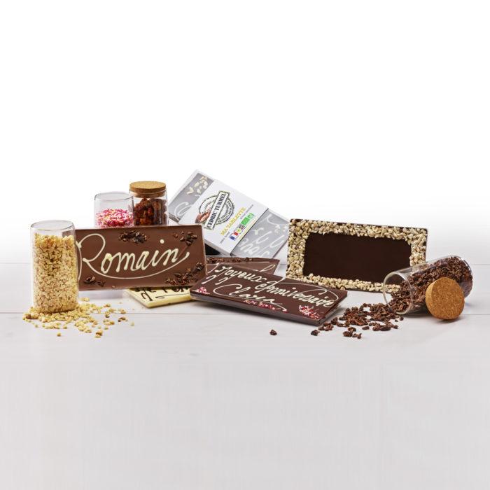 Tablettes de chocolat à personnaliser - Cédric Turmel artisan chocolatier
