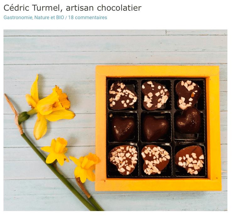 Presse : Les carnets d'une quadra, découvrez les chocolats bio, fabrication 100% artisanale, des grands crus de cacao - Cédric Turmel artisan chocolatier