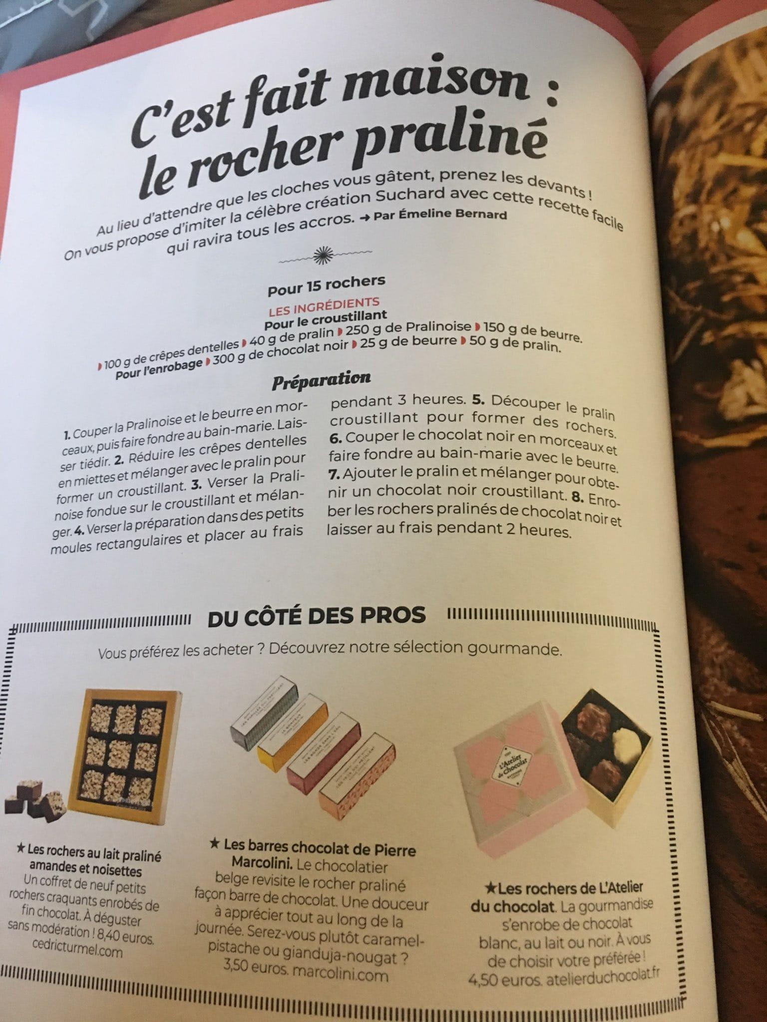 Presse : Oh My Mag, découvrez comment fabriquer nos rochers pralinés amandes et noisettes - Cédric Turmel artisan chocolatier 100% bio