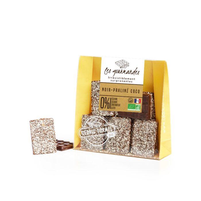 chocolat noir bio praliné coco