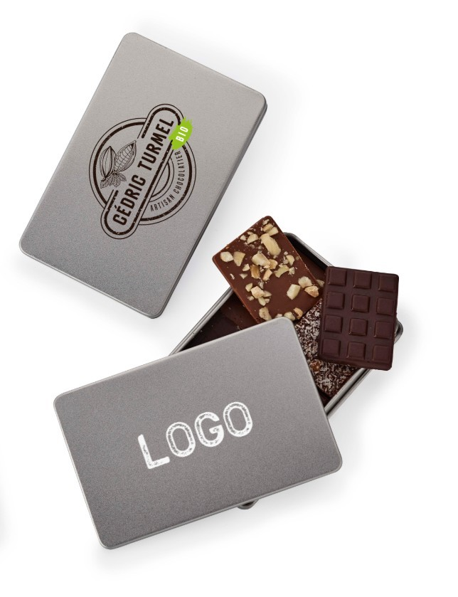 Notre offre entreprises : Boite métal petit format personnalisable - Cédric Turmel