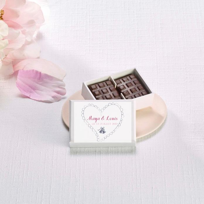 Écrin personnalisable de 6 mini-tablettes de chocolat bio - Cédric Turmel artisan chocolatier
