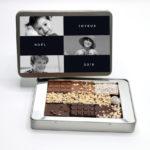 Boite métal personnalisable - 20 chocolats - Cédric Turmel artisan chocolatier 100% bio