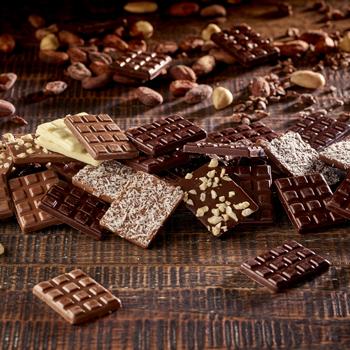 Mini-tablettes de chocolat noir, blanc, au lait, demandez un devis ou remplissez notre formulaire de contact - Cedric Turmel
