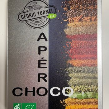 Apéro choco boîte métal - Cédric Turmel artisan chocolatier 100% bio