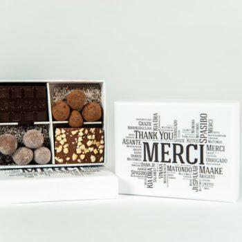 "Boîte blanche ""Merci"" - Cédric Turmel artisan chocolatier"