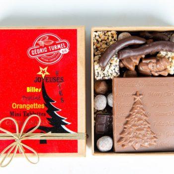 Boîtes krafts de Noël (rouge) - Cédric Turmel artisan chocolatier