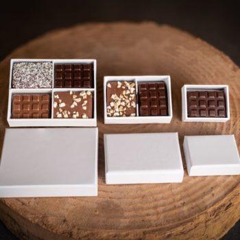 Boîtes blanches - Cédric Turmel artisan chocolatier 100% bio