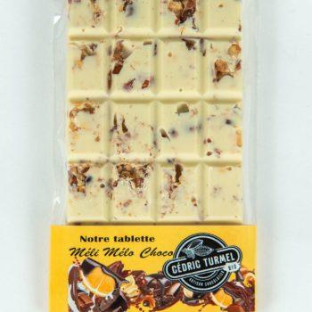 Tablette méli-mélo blanc - Cédric Turmel artisan chocolatier