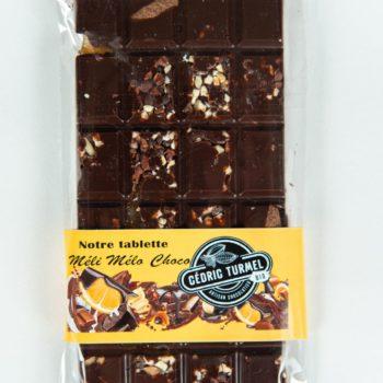 Tablette méli-mélo noir - Cédric Turmel artisan chocolatier